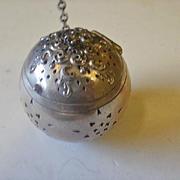 Large Webster Sterling #18 Floral Repousse Tea Ball