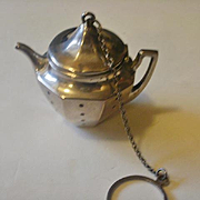 "Large Sterling ""Tea Pot"" Tea Ball"