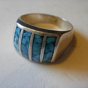 Artist Marked Sterling Turquoise Ring-9