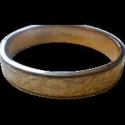 Victorian Era Gold Filled Bangle Bracelet