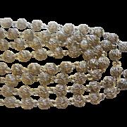 """Vintage Sterling 48"""" Filigree Necklace"""