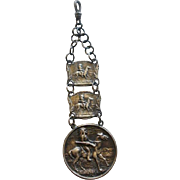 Fabulous Sterling Indian on Horse Double Sided Fob