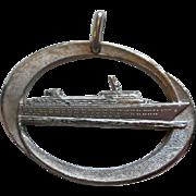 Large Sterling Ocean Liner Pendant