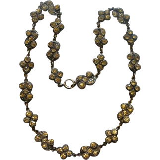 Petite Georgian Sterling Paste Necklace