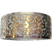 Victorian Era Floral Etched Bangle Bracelet