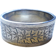 Victorian Era Ivy Etched Sterling Bangle