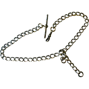 Fabulous Horace Woodward Ltd 1898 Sterling Watch Chain. Every Link Hallmarked
