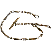 Ornate Art Deco Era Gold Filled Watch Chain