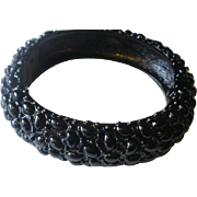 "Marked ""Kenneth Lane"" Japanned Clamper Bangle"