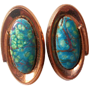 Matisse Renoir Lavender Turquoise Copper Earrings