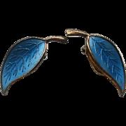 Vintage Washed Sterling Enamel Meka Denmark Earrings