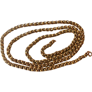 "24"" Victorian Era Gold Filled Chain for Locket or Pendant"