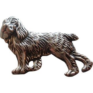 Detailed Vintage Sterling Cocker Spaniel Pin
