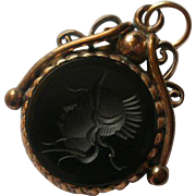 Victorian Era Rose Gold Filled Intaglio Fob
