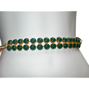 Fabulous Vintage Schreiner of NY Jade Glass Belt