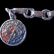 1964 Sterling Worlds Fair Charm Bracelet