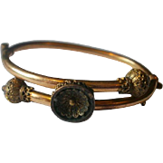 Victorian Era Child's or Dolls Gold Filled Etruscan Bangle