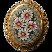 Vintage Micro Mosaic Pendant
