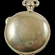 Large Vintage 800 Silver Locket