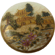 Vintage Scenic Satsuma Button
