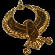 "Egyptian Revival Inlay ""Horus"" Pendant"