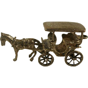 Very Large Articulated Danecraft Sterling Horse and Wagon Charm