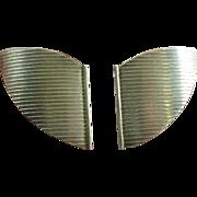 Studio Made Sterling Moderne Earrings