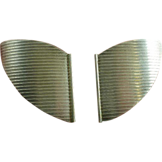 Studio Made Sterling Moderne Earrings