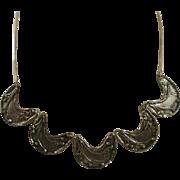 Studio Made Sterling Brutalist Style Necklace
