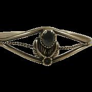 Sterling Hematite South Western Cuff Bracelet