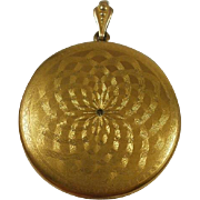 Fabulous Extra Large Victorian Era Gold Filled Locket