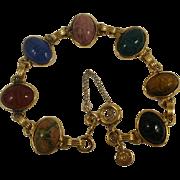 Vintage 12k  Gold Filled Scarab Bracelet