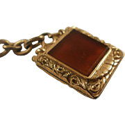 Victorian Era Double Sided Carnelian Onyx Fob