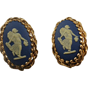 Vintage Wedgwood Gold Filled Pierced Earrings