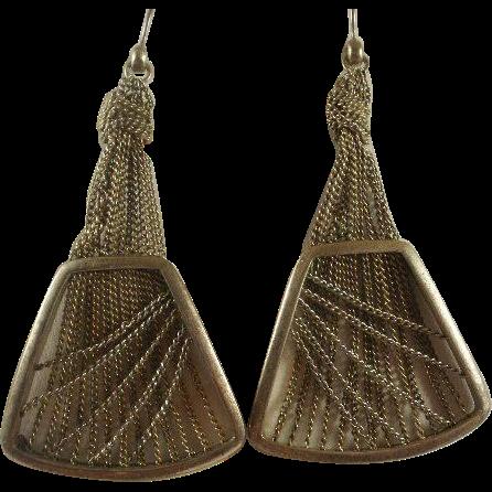 Vintage KCR Draped Chain Earrings