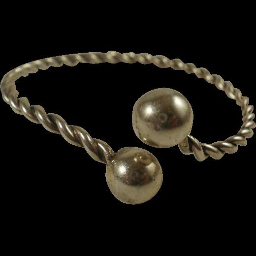 Mid Century Modern  Felch Co. Sterling Bangle Bracelet