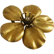 Large Victorian Era 10k Pansy Pendant/Brooch