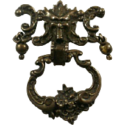 Large Antique Sterling Figural Door Knocker Brooch