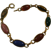 Heavy Gold Filled Elongated Scarab Bracelet