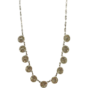 Art Deco Era Huge Open Backed Crystal Necklace