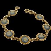 Rarely Found Wedgwood Daisy Gold Filled Bracelet
