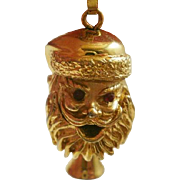 Rarely Found Marked Monet Articulated Santa Pendant (Matches Charm)