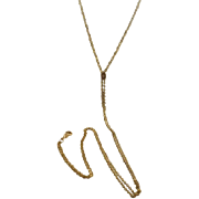 10k Diamond Slide on Gold Filled Ladies Watch Chain