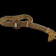Victorian GF Cameo Slide Mesh Bracelet and Tassel
