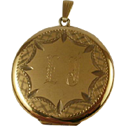 Very Large Mid Century Gold Filled Locket