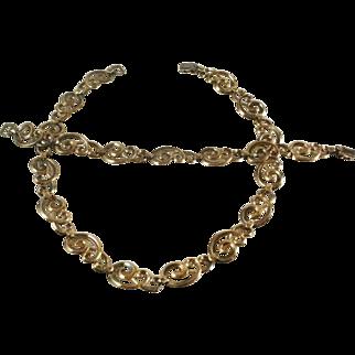 Symmetalic  Gold Washed Sterling Bracelet and Necklace Set