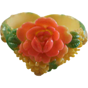 Over Dyed Molded Celluloid Childs Cuff Bracelet