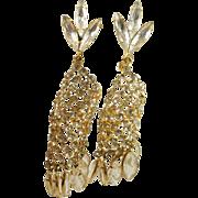 Fabulous Sparkling Rhinestone Open Backed Crystal Drop Earrings