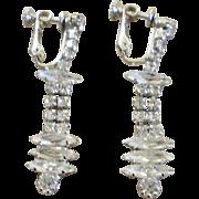 Hobe Rhinestone Drop Earrings with Brooch