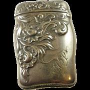 Art Nouveau Silver Plate Vesta Dated 1892